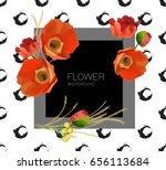 flower background. composition... | Shutterstock .eps vector #656113684
