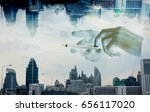 abstract image of business... | Shutterstock . vector #656117020