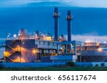 petrochemical oil refinery... | Shutterstock . vector #656117674