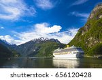 cruise liner anchored at... | Shutterstock . vector #656120428