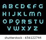 3d triangle alphabet | Shutterstock .eps vector #656122744