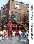 Small photo of DUBLIN, IRELAND - 22 JUNE 2015: People throng outside Temple Bar Pub during Dublin Pride. Dublin Pride is an annual event celebrating the rights of the LGBTQ community. Editorial.