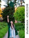 college grad on campus in oregon | Shutterstock . vector #656132248