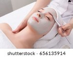 face peeling mask  spa beauty... | Shutterstock . vector #656135914