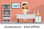 girl scientist in the laboratory | Shutterstock .eps vector #656139940