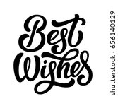 best wishes fancy black ink... | Shutterstock .eps vector #656140129
