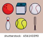 sports equipment design | Shutterstock .eps vector #656143390