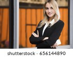 Small photo of close up portrait of a young business woman executive
