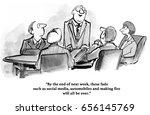 business cartoon about a...   Shutterstock . vector #656145769
