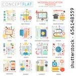 infographics mini concept e... | Shutterstock . vector #656148559