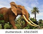 african elephant | Shutterstock . vector #65615605