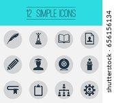 vector illustration set of... | Shutterstock .eps vector #656156134