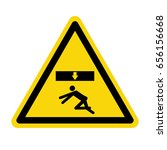 crush hazard. stay clear this... | Shutterstock .eps vector #656156668
