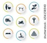 vector illustration set of... | Shutterstock .eps vector #656158540