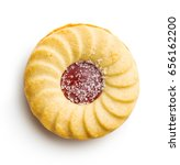 jam ring biscuit isolated on... | Shutterstock . vector #656162200
