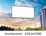 billboard canvas mock up in... | Shutterstock . vector #656163280