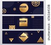 vector gold luxury abstract... | Shutterstock .eps vector #656164108