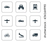 vector illustration set of... | Shutterstock .eps vector #656164990
