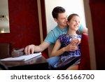 friends in a bar   restaurant | Shutterstock . vector #656166700