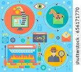 online communication security ... | Shutterstock . vector #656171770