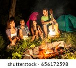 group of friends camping.they... | Shutterstock . vector #656172598