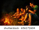 group of friends camping.they... | Shutterstock . vector #656172604