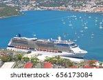 cruise ship docked in saint... | Shutterstock . vector #656173084
