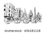sketch of cityscape in dublin... | Shutterstock .eps vector #656181118