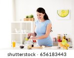 healthy eating  pregnancy and... | Shutterstock . vector #656183443