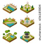 set of isometric landscape... | Shutterstock .eps vector #656185804