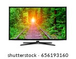 4k monitor isolated on white | Shutterstock . vector #656193160
