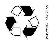 recycle symbol   Shutterstock .eps vector #656193229