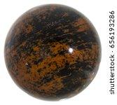 mahogany obsidian polished... | Shutterstock . vector #656193286