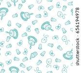 happy birthday pattern....   Shutterstock .eps vector #656194978