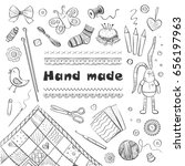 collection of hand drawings of... | Shutterstock .eps vector #656197963