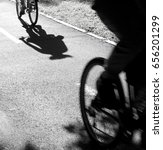 two blurry cyclist silhouette... | Shutterstock . vector #656201299