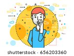 vector illustration orator... | Shutterstock .eps vector #656203360