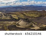 Aerial View To Crater Of Old...