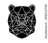 geometric vector bear | Shutterstock .eps vector #656213740