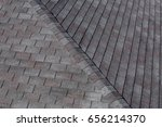 roofing shingles black and gray ... | Shutterstock . vector #656214370