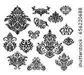 set of ornamental vector damask ... | Shutterstock .eps vector #656220688