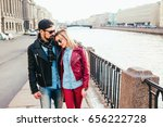 outdoor fashion portrait of... | Shutterstock . vector #656222728
