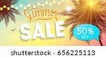 summer sale banner template for ... | Shutterstock .eps vector #656225113