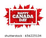 happy canada day poster. 1st... | Shutterstock .eps vector #656225134