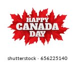 happy canada day poster. 1st... | Shutterstock .eps vector #656225140