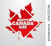 happy canada day poster. 1st... | Shutterstock .eps vector #656225146