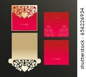 gold cutout cover  invitation....   Shutterstock .eps vector #656226934