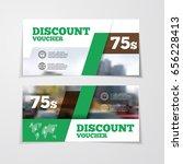 gift or discount voucher...   Shutterstock .eps vector #656228413