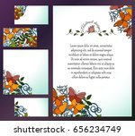 set of banners for flyer ... | Shutterstock .eps vector #656234749