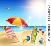 summer beach background | Shutterstock .eps vector #656236924